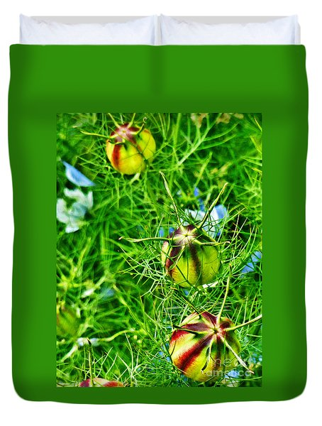 Duvet Cover featuring the photograph Love In A Mist by Steve Taylor