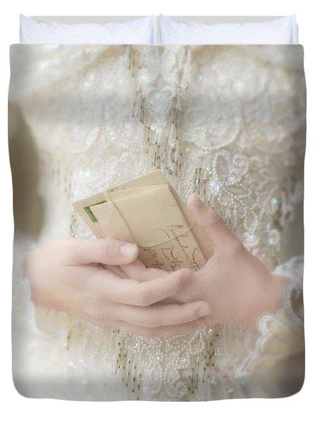Love Letters Duvet Cover by Jill Battaglia