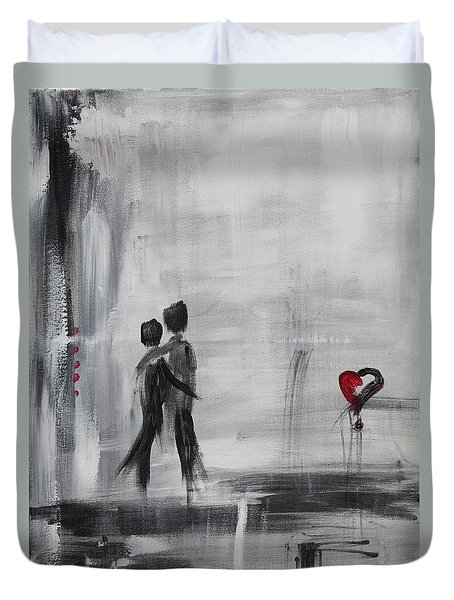 Love Story 1 Duvet Cover