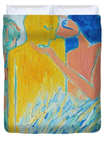 Loving An Angel Duvet Cover by Ana Maria Edulescu