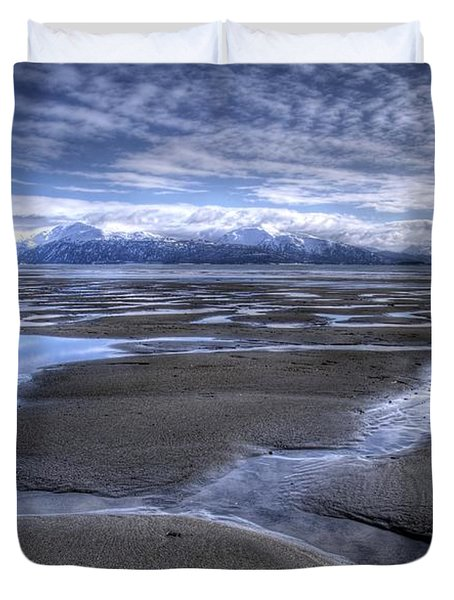 Duvet Cover featuring the photograph Low Tide by Michele Cornelius