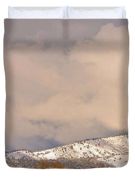 Low Winter Storm Clouds Colorado Rocky Mountain Foothills 4 Duvet Cover