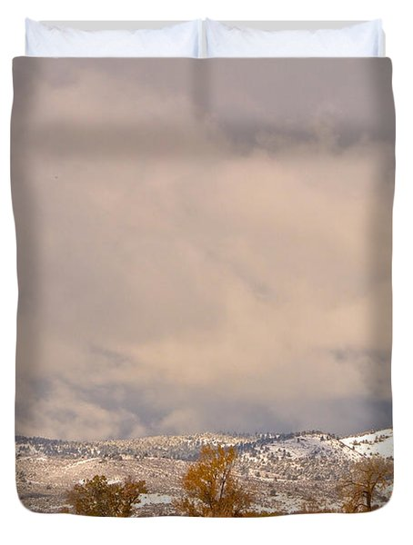 Low Winter Storm Clouds Colorado Rocky Mountain Foothills 5 Duvet Cover