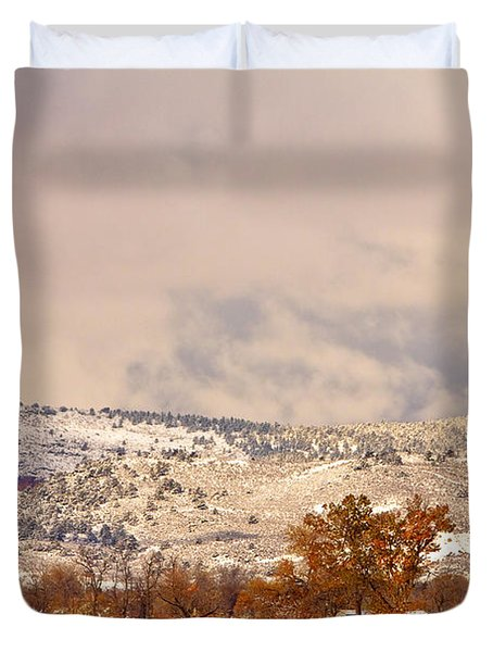 Low Winter Storm Clouds Colorado Rocky Mountain Foothills 6 Duvet Cover