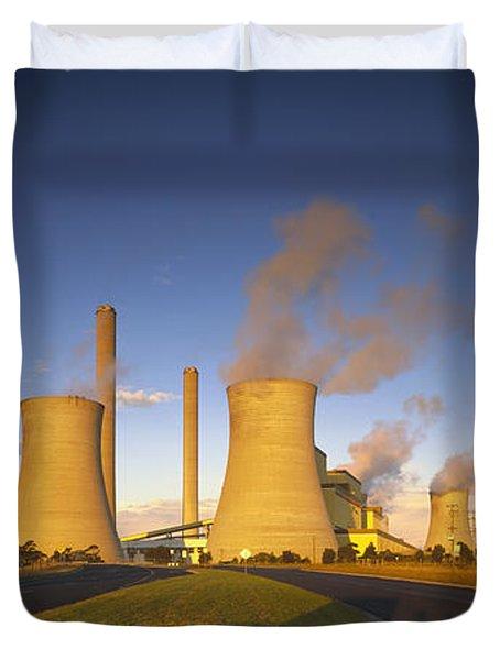 Loy Yang Power Station, Coal Burning Duvet Cover by Jean-Marc La Roque