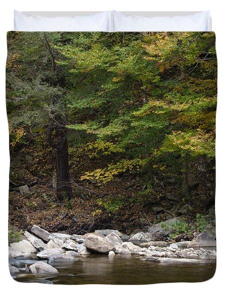 Loyalsock Creek Flowing Gently Duvet Cover