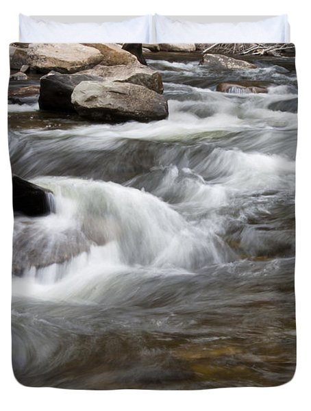 Loyalsock Creek Gentle Rapids Duvet Cover