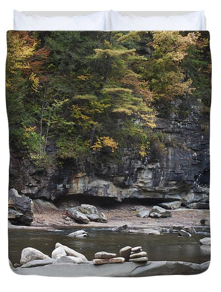 Loyalsock Creek In The Fall Duvet Cover