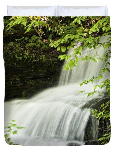 Loyalsock Waterfall Duvet Cover