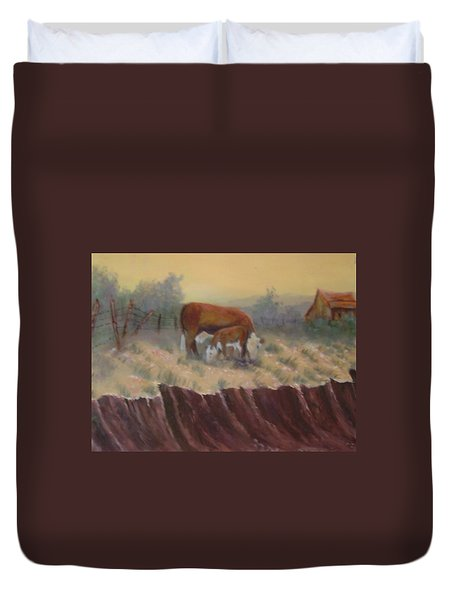 Lunch Time Duvet Cover by Jan Holman
