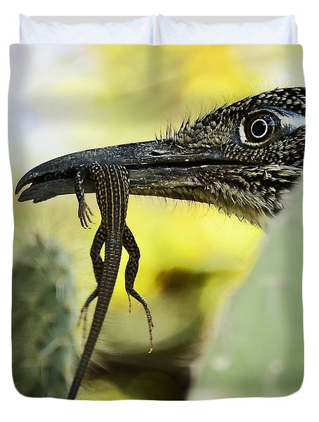 Lunch With A Roadrunner  Duvet Cover