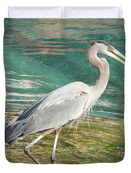 Duvet Cover featuring the photograph Lunchtime by Laurel Best