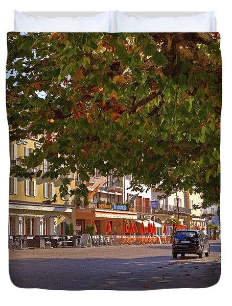 Lungolago Ascona Duvet Cover by Joana Kruse