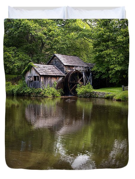 Mabry Mill And Pond Duvet Cover