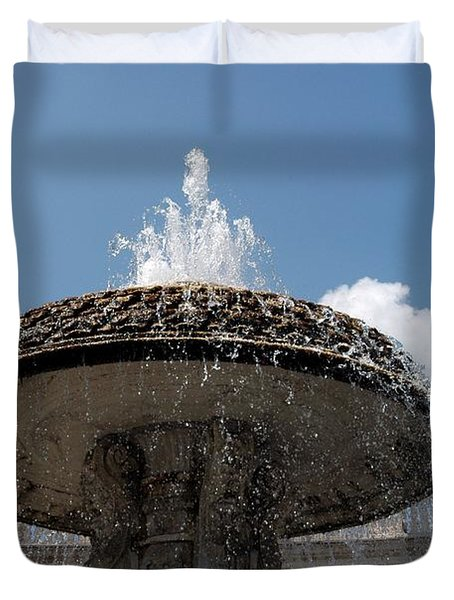 Maderno's Fountain Duvet Cover