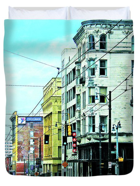 Duvet Cover featuring the photograph Madison Avenue by Lizi Beard-Ward