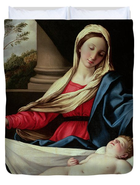 Madonna And Child  Duvet Cover by II Sassoferrato