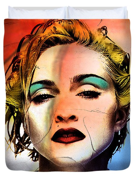 Madonna  Duvet Cover by Mark Ashkenazi
