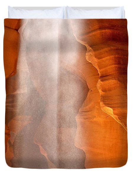 Magical Beams Of Light - Antelope Canyon Arizona Duvet Cover by Christine Till