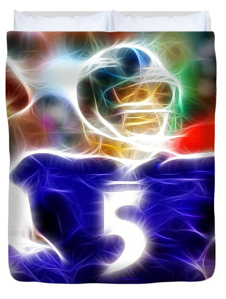 Magical Joe Flacco Duvet Cover by Paul Van Scott