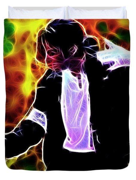 Magical Michael Duvet Cover by Paul Van Scott