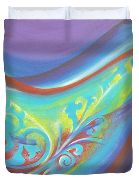 Magical Wave Water Duvet Cover by Reina Cottier