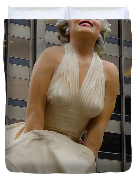 Magnificent Marilyn Duvet Cover by Julia Wilcox