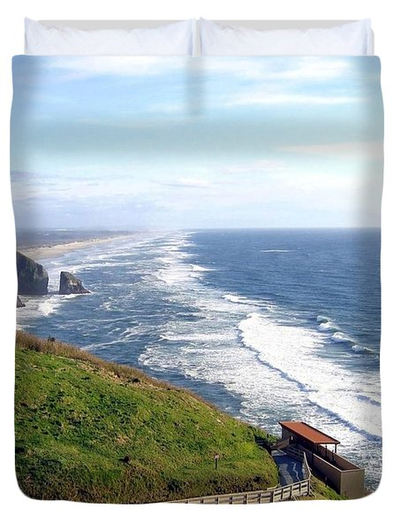 Magnificent Oregon Coast Duvet Cover by Will Borden