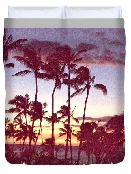 Duvet Cover featuring the photograph Mahalo For This Day by Beth Saffer