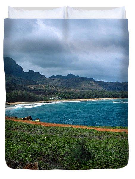 Maha'ulepu Beach Duvet Cover by Kathy Yates