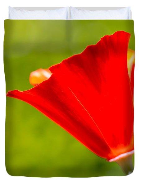 Mahogany California Poppy I Duvet Cover by Heidi Smith