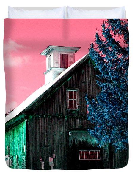 Maine Barn Duvet Cover by Marie Jamieson