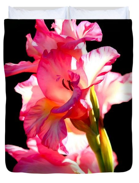 Majestic Gladiolus Duvet Cover by Patrick Witz