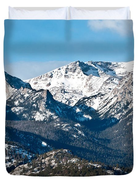 Duvet Cover featuring the photograph Majestic Rockies by Colleen Coccia