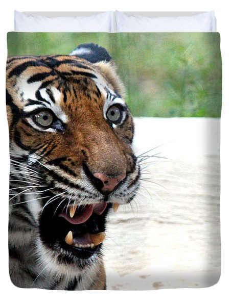 Duvet Cover featuring the photograph Make My Day by Kathy  White