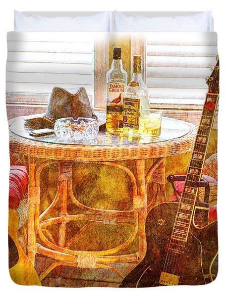 Making Music 003 Duvet Cover by Barry Jones