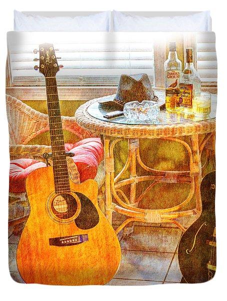 Making Music 005 Duvet Cover by Barry Jones