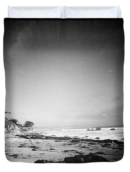 Duvet Cover featuring the photograph Malibu Peace And Tranquility by Nina Prommer