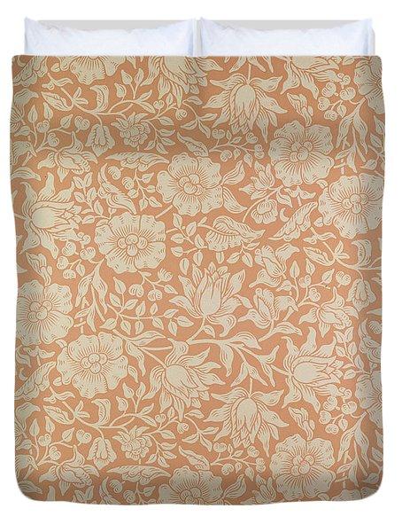 Mallow Wallpaper Design Duvet Cover by William Morris