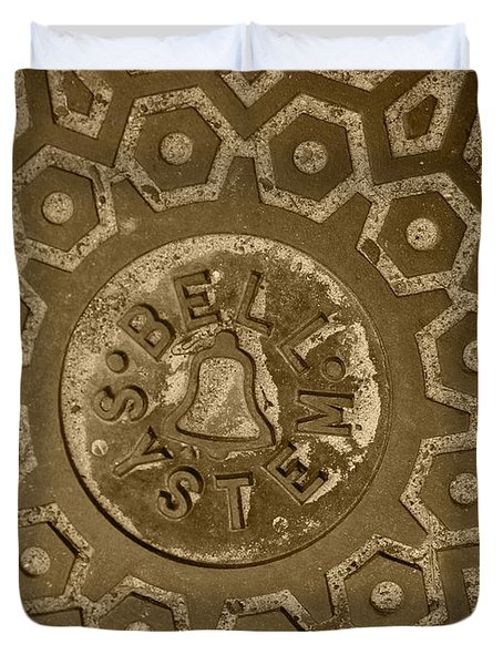 Man Hole Cover For Ma Bell Duvet Cover by Kym Backland