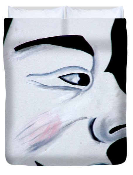 Man In The Moon Duvet Cover by Jeff Lowe