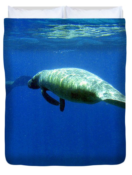 Manatee Magic Duvet Cover