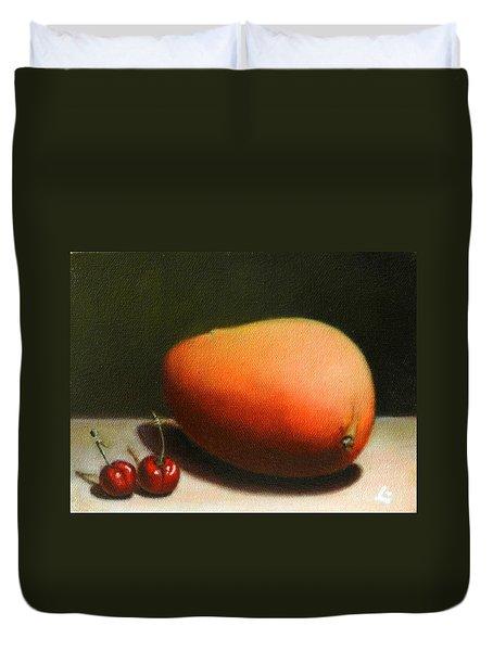 Mango And Cherries, Peru Impression Duvet Cover