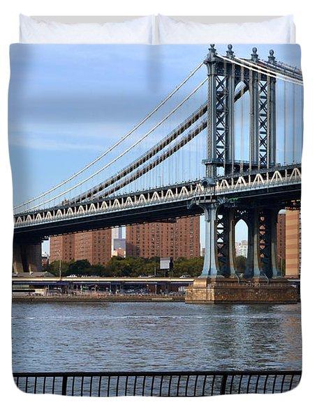 Manhattan Bridge2 Duvet Cover by Zawhaus Photography