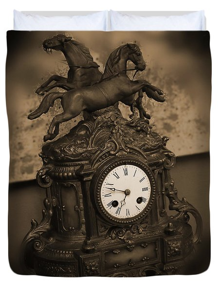 Mantel Clock Duvet Cover by Mike McGlothlen
