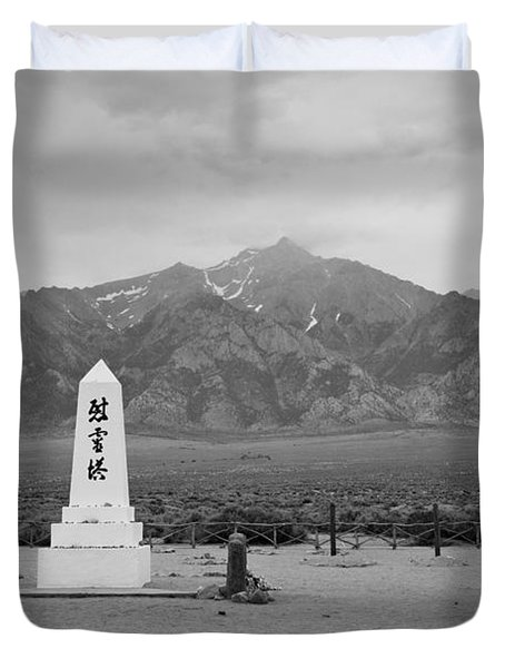 Manzanar Memorial Duvet Cover