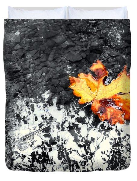 Maple Leaf Selective Color Duvet Cover