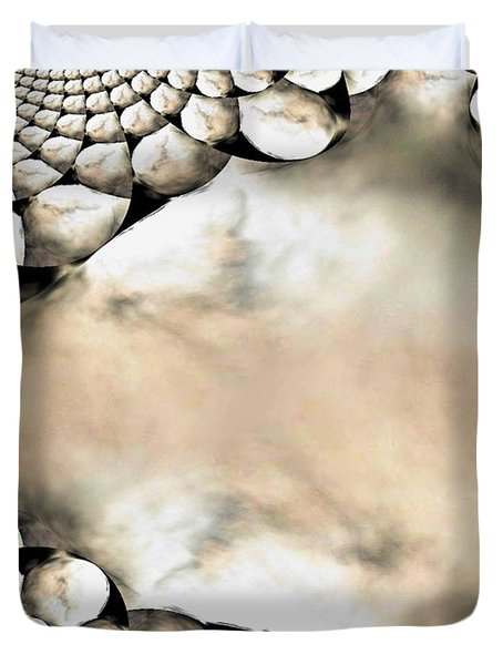 Marble Abstract Duvet Cover by Maria Urso