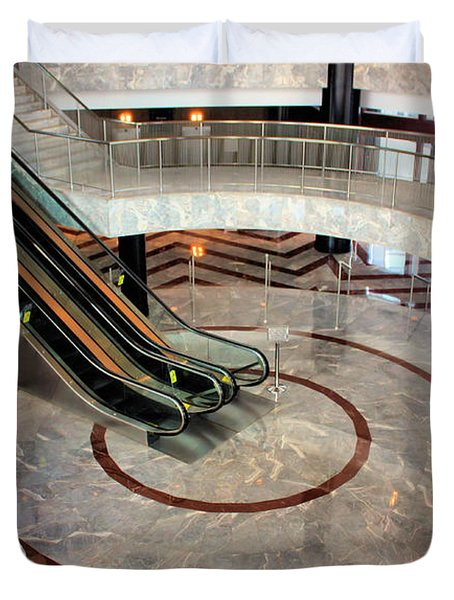 Marble Staircases Duvet Cover by Kristin Elmquist