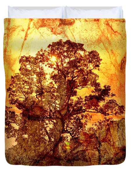Marbled Tree Duvet Cover by Marty Koch